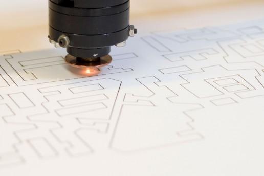 taglio laser cutting cartoncino