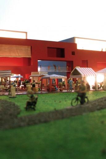 plastico modello architettura centro commerciale direzionale