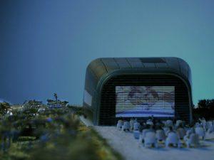 modello architettura plastico teatro aperto maserati
