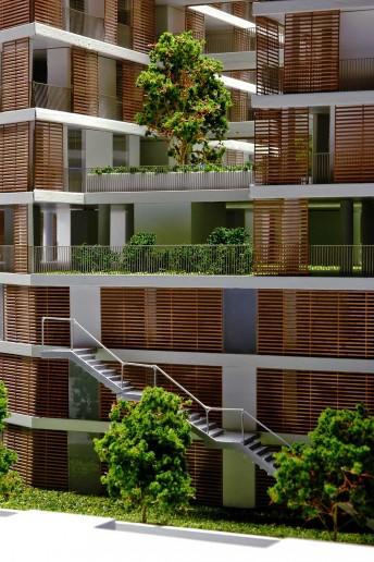 dettaglio finestre plastico architettura condominio lissoni milano