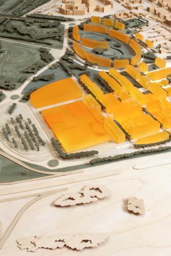 plastico architettura modello scala urbanistica volumi abitati santa giulia