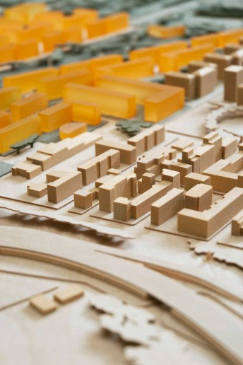 plastico architettura modello scala urbanistica volumi abitati colore