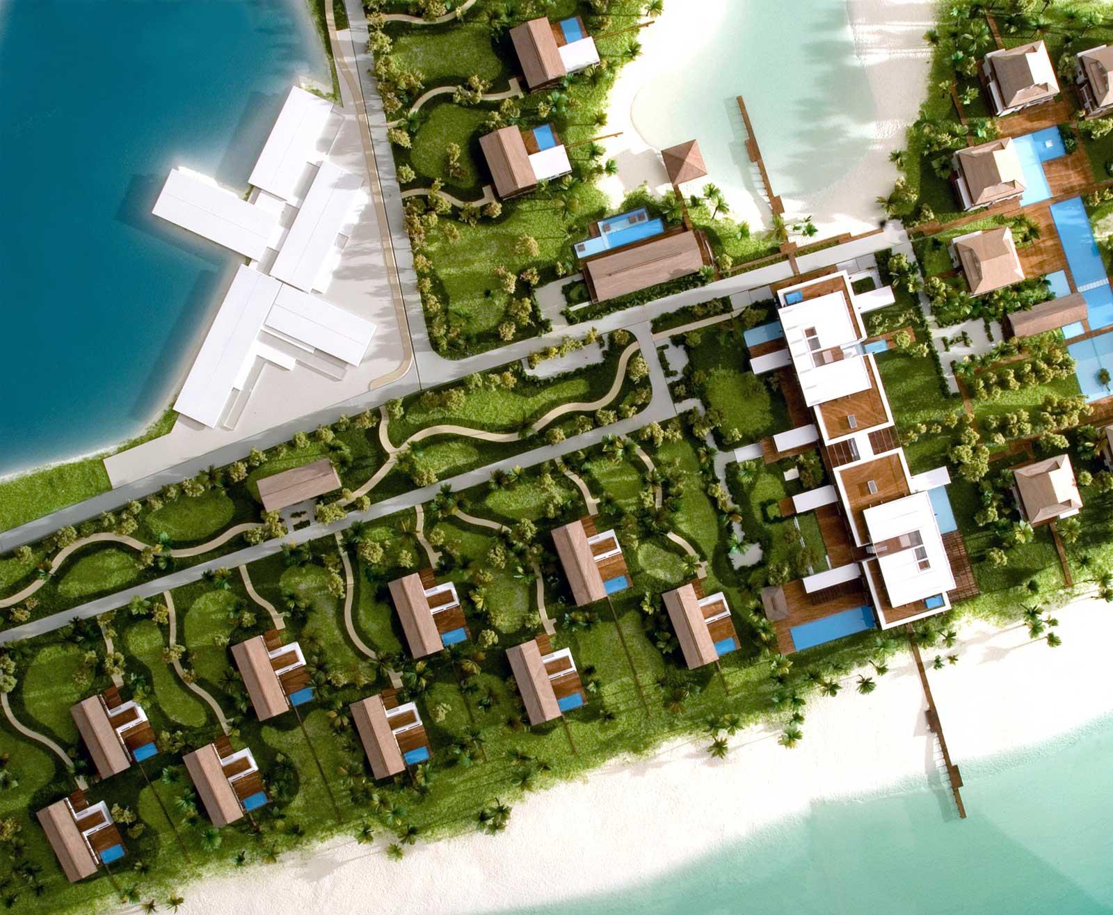 plastico masterplan scala urbanistica ville sul mare