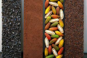 installazione allestimento vetrina per evento food cioccolato