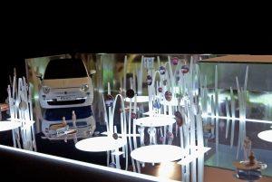 plastico bianco luce modello interni architettura negozio fiat
