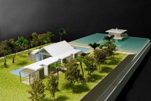modello architettura villa mare shigeru ban