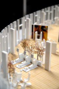 plastico bianco modello interni architettura palestra
