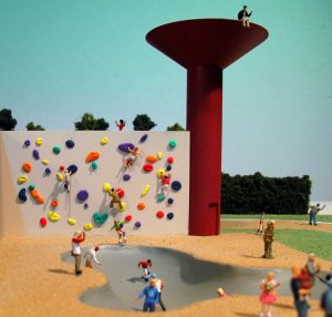 modello architettura plastico campo sportivo persone