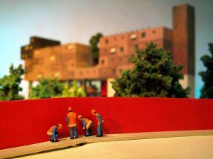 plastico modello architettura paesaggio urbano abitato colori