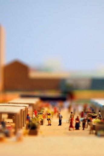 plastico modello architettura mercato cittadino colori