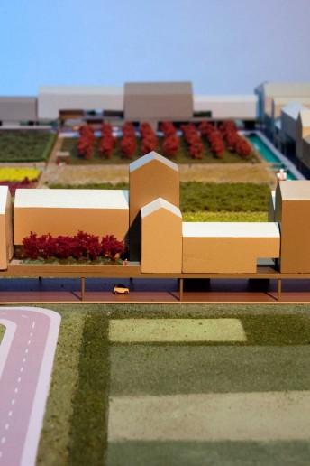 plastico modello architettura scala urbanistica con vegetazione