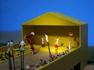 plastico scala urbana modello architettura teatro aperto cina