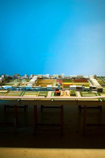 modello architettura plastico paesaggio urbano vegetazione scala cibic biennale