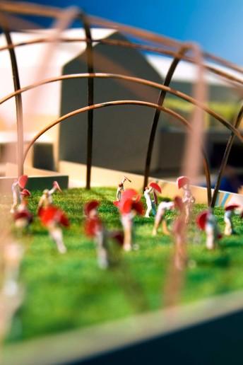 modello architettura plastico paesaggio urbano persone