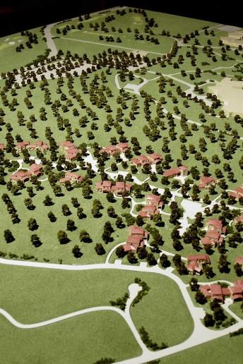 modello architettura plastico paesaggio urbano vegetazione