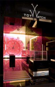 plastico architettura con luce vetrina negozio