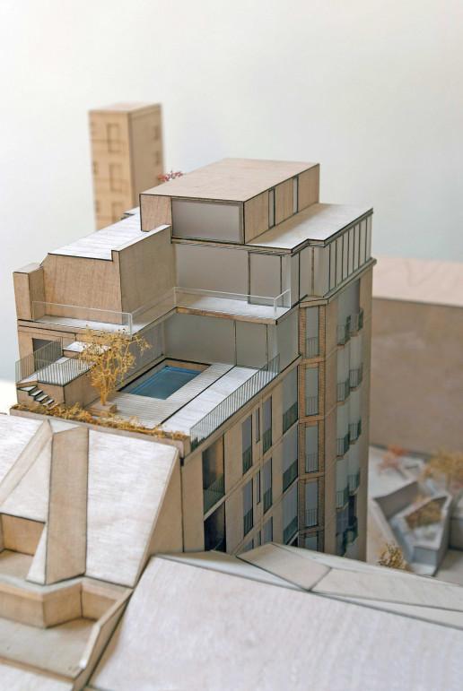 plastico modello architettura scala urbana dordoni milano