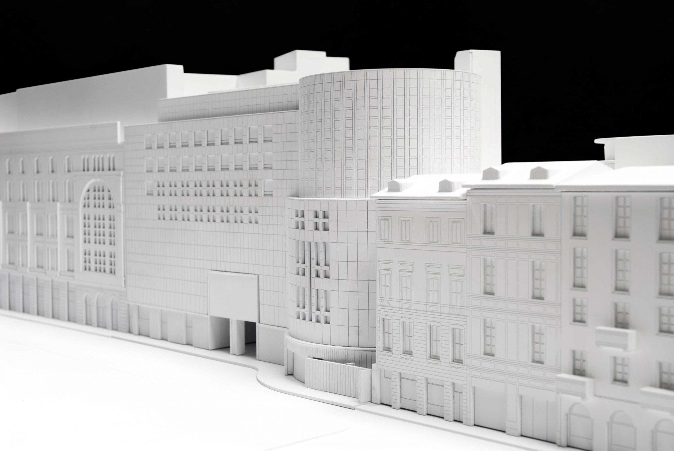 plastico bianco modello architettura scala urbana rinascente duomo