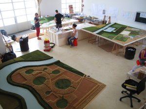 plastico architettura masterplan in lavorazione