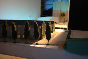 plastico backstage scorcio modello architettura