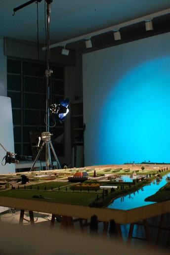 plastico architettura backstage modello masterplan