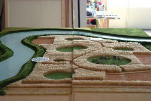 plastico masterplan scala urbanistica campi villaggio
