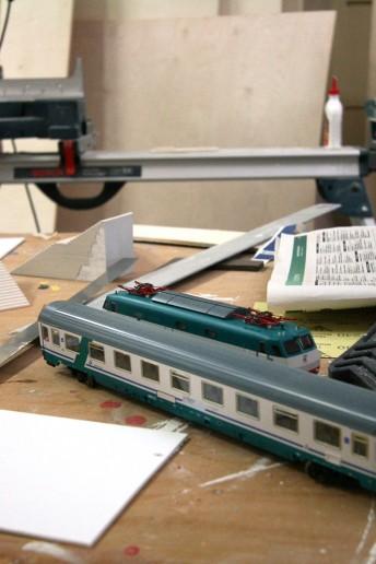 plastico architettura backstage modello in lavorazione