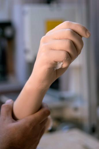 mockup replica braccio stampo silicone